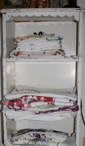 Some of my vintage tablecloths.